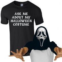 Ask Me About My Halloween Costume Scream Mask T-Shirt